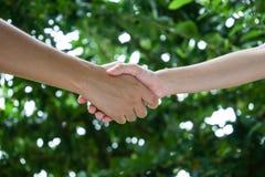 Agite as mãos no jardim imagem de stock royalty free