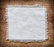 Agite el fondo de la arpillera, pedazo de material natural Foto de archivo