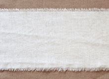 Agite el fondo de la arpillera, pedazo de material natural, puede ser utilizado como fondo Imagen de archivo