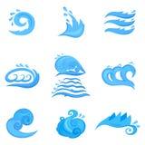 Agite el sistema de símbolos para el diseño aislado en blanco Fotos de archivo libres de regalías