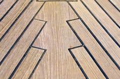 Żaglówka łęk, drewniany pokładu szczegół, Włochy Obraz Stock