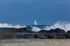 Żaglówka na Atlantyckim oceanie Fotografia Stock