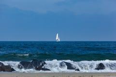 Żaglówka na Atlantyckim oceanie Zdjęcie Stock