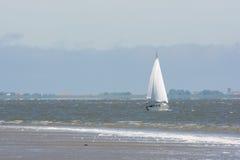 Żaglówka na holendera Wadden morzu Zdjęcia Stock