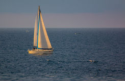 Żaglówka na ionian morzu Obraz Royalty Free