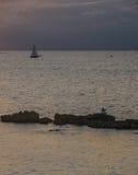 Żaglówka na ionian morzu Zdjęcia Stock
