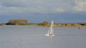 Żaglówka na Veere jeziorze holandie Fotografia Stock