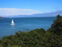 Żaglówka na zatoce w Sanfrancisco Zdjęcie Royalty Free