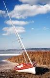 Żaglówka przy Jeziornym Balaton w zima czasie Obrazy Royalty Free