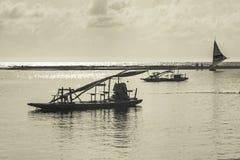 Żaglówka przy oceanem Porto Galinhas Brazylia Fotografia Royalty Free