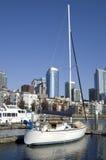 Żaglówka przy Seattle nabrzeżem obraz royalty free