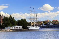 Żaglówka w Sztokholm obraz royalty free