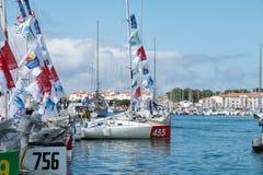 żaglówki i regatta konkurenci Zdjęcia Royalty Free