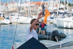 żaglówki i regatta konkurenci Zdjęcie Royalty Free
