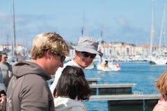 żaglówki i regatta konkurenci Obrazy Royalty Free