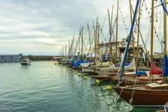 Żaglówki na BodenSee jeziorze, Friedrichshafen, Niemcy Zdjęcie Royalty Free