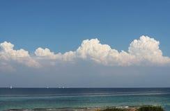 Żaglówki na lata morzu Fotografia Royalty Free