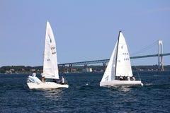 Żaglówki na Narragansett zatoce Obraz Royalty Free