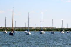 Żaglówki na St. Augustine rzece Zdjęcie Stock