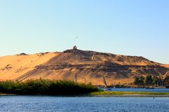 Żaglówki ono ślizga się na Nil rzece obraz royalty free