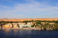 Żaglówki ono ślizga się na Nil rzece zdjęcia royalty free