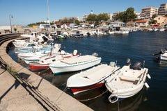 Żaglówki przy marina dokiem Alexandroupolis Zdjęcie Royalty Free