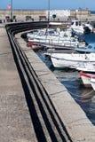 Żaglówki przy marina dokiem Alexandroupolis Obraz Stock