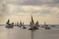 Żaglówki przy oceanem Porto Galinhas Brazylia Zdjęcie Stock