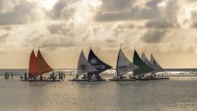 Żaglówki przy oceanem Porto Galinhas Brazylia Obraz Royalty Free