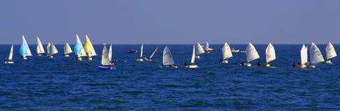 Żaglówki regatta sztandar Fotografia Stock