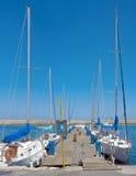 Żaglówki w Chanie, Crete Zdjęcia Royalty Free