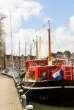 Żaglówki w historycznym Morskim schronieniu przy Hoorn, holandie Fotografia Stock