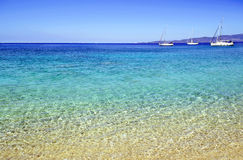 Żaglówki w Ionian morzu Fotografia Stock