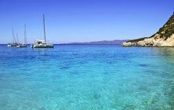 Żaglówki w Ithaca Ionian wyspach Grecja Zdjęcie Royalty Free
