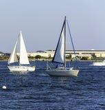 Żaglówki w San Diego zatoce Obraz Royalty Free