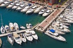 Żaglówki w schronieniu Fontvieille, Monaco ksiąstewko Obraz Royalty Free