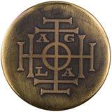 AGLA är ett magiskt namn av guden Arkivfoto