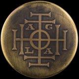 AGLA är ett magiskt namn av guden Arkivbild
