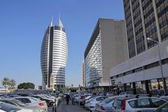 Żagla drapacz chmur w Haifa columned budynku sali Hungary miasta Obraz Royalty Free