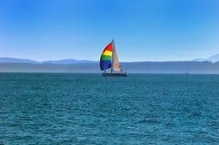 żagla jaskrawy jacht Fotografia Stock