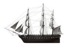 Żagla statek Odizolowywający ilustracji
