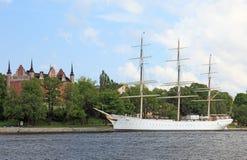 żagla statek Stockholm Zdjęcia Royalty Free