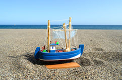 Żagla statku zabawki model Fotografia Royalty Free