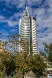 Żagla wierza w Haifa, Izrael Fotografia Stock