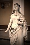 Aglaia, jeden Charites. Antykwarska statua, Corfu Obraz Stock