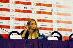 Aglaya Shilovskaya на пресс-конференции ` Ke-Dy ` кино Стоковые Изображения