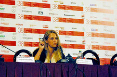 Aglaya Shilovskaya at Press-conference of the movie `Ke-Dy` Stock Images