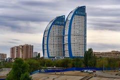 Żagle buduje w Volgograd Zdjęcie Stock