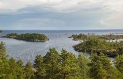 Żagle i wyspy jesieni krajobraz Zdjęcie Stock