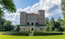 Agliè castle. Agliè royal castle and fountain Stock Image
